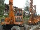 Die Arbeiten beim Bohrloch in Doren sind aufgrund des harten Gesteines etwas ins Stocken geraten