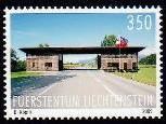 Die Liechtensteiner Briefmarke zeigt des Zollamt Nofels-Ruggell.