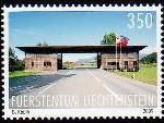 Die Liechtensteiner Briefmarke zeigt des Zollamt Nofels-Ruggell