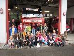 Die Röthner Volksschüler hatten viel Spaß bei der Feuerwehr.