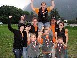 Die erfolgreichen Schützen: vorne v.l.: Lukas Richl, Philipp Amann, Adrian Richl; hinten v.l. Sabrina, Gerry, Bianca und Carmen Amann, Alex und Andrea Richl