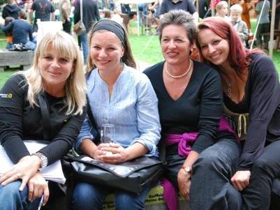 Ein schöner Abend war es auch für Diana Pakic, Petra und Annemarie Grass und Uli Fuchs.