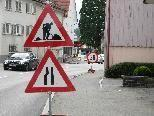 Geschwindigkeitsbeschränkung auf der Durchzugsstraße