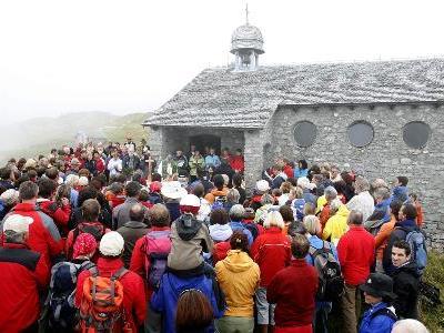 Gut besuchte Bergmesse