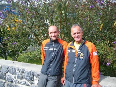 Hubert und Rudi beim Gauschla Berglauf