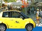 In der Fußgägnerzone werden am Samstag ökologische Fahrzeuge ausgestellt.