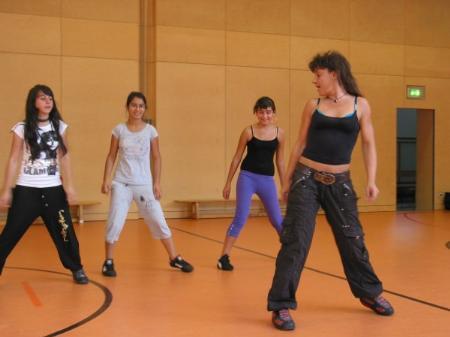 In der Villa K. findet wieder ein Hip Hop Training statt.