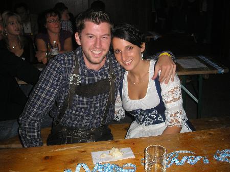 Joachim und Nadine beim Oktoberfest in Ludesch