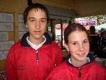 Lara Jehle und Mathias Jagschitz sind die hoffnungsvollsten Bahnengolfer des Landes. Foto: Thomas Knobel