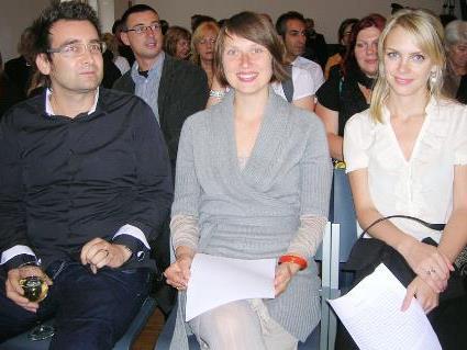 Michael Stavaric, Agnieszka Piwowarska und Susanne Gregor (v. l.) gewannen den ersten Emser Literaturpreis.