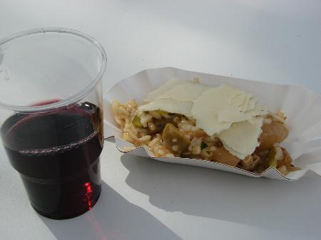 Rotwein und Risotto