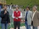 Alpenbad-Eröffnung mit Bgm. Bitschnau, Tschagguns, GF Bitschnau, Schruns-Tschagguns Tourismus, Bgm. Dr. Bahl, Schruns und LR Mag. Stemer.