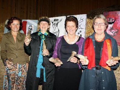 Angelika Stark, Martha Niederacher, Sabine Lingenhöle-Rainer und Evy Halder.