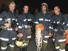 Atemschutztrupp Riefensberg nach dem Einsatz