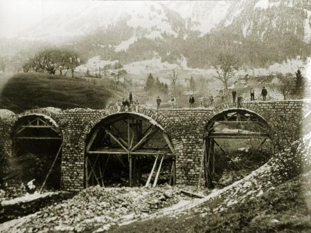 Bau der Bregenzerwaldbahn 1901