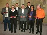 Bild: Freudestrahlende Gesichter bei den Mitarbeitern die bereits 35 Jahre im LKH Feldkirch arbeiten.