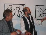 Christof Gantner mit Vernissagredner Augustin Jagg