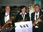Das Sax by Sax-Trio sorgte für zusätzlichen Hörgenuss.