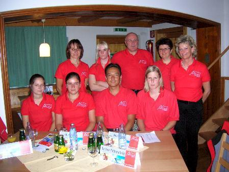 Das Team des Hochmontafon Tourismus in der neuen Dienstkleidung.
