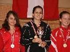 Die fünffache österr. Meisterin Maja Miller, 2. Rebecca Rieder, Götzis, 3. Sarah Dolzer, Kärnten