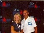 Durch Jessica Waidensall vom Management der lronman-Corporation erfuhr Nino Michelon eine Ehrung.