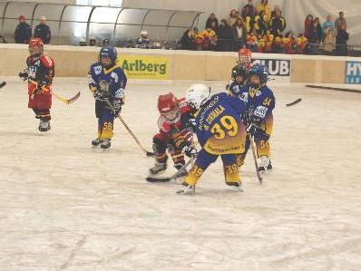 Ein Minieishockeyturnier gab es im Aktivpark Montafon