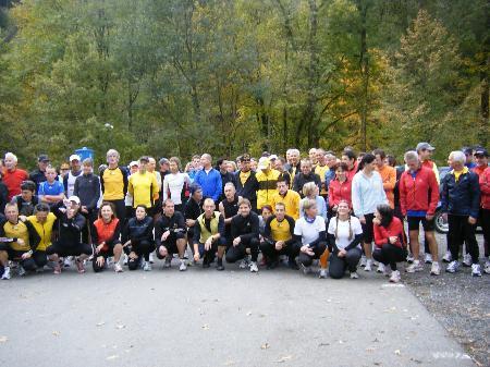 Gruppenfoto vom Trainingslauf