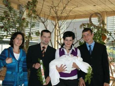 Hanna wurde in der Kirche Fontanella getauft