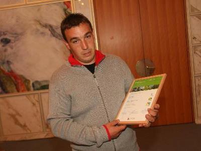Michael Kegele stolzer Besitzer von Cheti