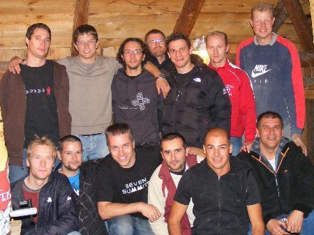 Mitglieder vom First Schopf Soccer Team Schruns
