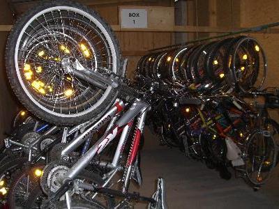 Nicht abgeholte Fahrrader werden im Bauhof versteigert