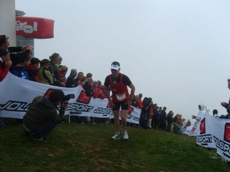Ralf kurz vor dem Ziel beim Marathon
