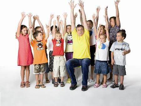 Singen bitte! Kinder in die Mitte