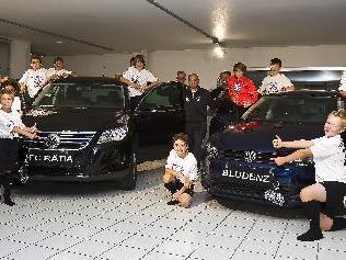 U13 des FC Fohrenburger Rätia Bludenz als Vertreter vom Autohaus Rudi Lins.