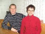 Wirtin Nadine Barth mit ihrem Lebensgefährten Rainer Dobritzhofer