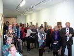 Zahlreiche Gäste konnten zur Eröffnung der Werkschau von Josef Boss begrüßt werden