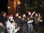Adventstimmung mit der Jugend des MV Lochau.