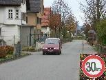Bild: Auf der Kapfstraße könnte ev. zur Gänze Tempo 30 eingeführt werden.