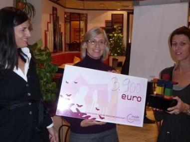 """Das """"Netz für Kinder"""" freute sich über einen Scheck in Höhe von 3900 Euro."""