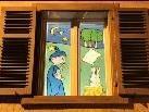 Das erste Fenster ist bereits am 1. Adventsonntag beleuchtet worden