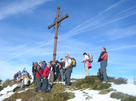 Der Alpenverein Nenzing auf dem Falvkopf