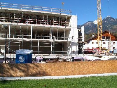 Der Erweiterungsbau für das IAP in Ludesch geht zügig voran.
