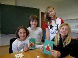 Die Eichenberger Volksschüler beim Besuch der Mittelschule Lochau.