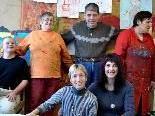 Die Freitagskünstler v.l.n.r.: Alfred Köchler, Ruth Letsch, Myriam Spieß, Bruno Erath, Betreuerin Doris Fässler, Gerda Lins.