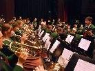 Die Hatler Musik unter Dirigent Werner Böhler umrahmen die Messfeier in der Kirche St. Leonhard
