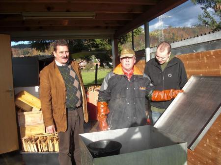 """Die Imker des Bezirks Bregenz schaffen einen gesunden """"Wohnraum"""" für die Bienen."""