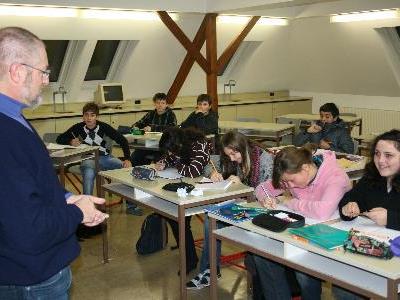"""In der Mittelschule Bludenz konnte dank """"VN""""-Bürgerforum eine """"klimatische Veränderung"""" herbeigeführt werden."""