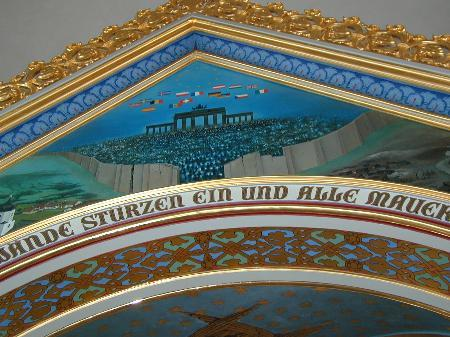 Kirchengemälde hinter dem Hochaltar