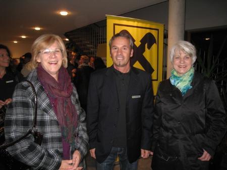 Martin Kosch mit den Raiba-Direktoren Gustav Kathrein und Hubert Gieselbrecht.
