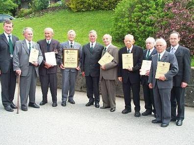 Mitglieder des Kameradschaftsbundes Lingenau